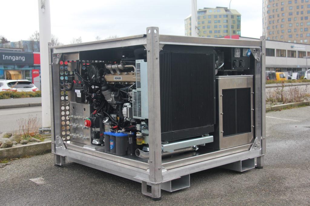 Dieseldrevet hydraulisk aggregat